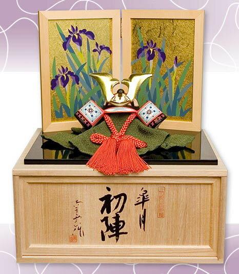 [名前札付] 五月人形 木製 木彫り人形 収納飾り 南雲 「初陣」 NU-536【smtb-s】【楽ギフ_包装】【楽ギフ_のし宛書】