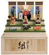 五月人形 木彫り人形 収納飾り 南雲 「皐月組」 NU-533【smtb-s】【楽ギフ_包装】【楽ギフ_のし宛書】