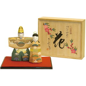 [With name tag] Hina Doll Hina Doll Wood Carving Doll Nanun Flower (Large) NU-335 [smtb-s] [Rakuten] Giff _ packaging] [Easy Gif address book]