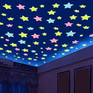 ウォールステッカー 蓄光 夜光ステッカー 12星座 壁のステッカー 光るシール 星空 きらきら かわいい星 ウォールステッカー 子供部屋 飾り 蛍光シール 212枚 子どもの日は贈り物