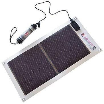 日本製 5.4W ソーラーシートチャージャー + 2600mAh LEDライト付 防水チャージャー セット GN-050B1