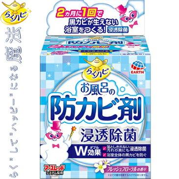 アース製薬らくハピ お風呂の防カビ剤 フレッシュフローラル香り 1個[洗浄剤/浴室/フロ釜洗い/クリーナー/浴槽洗剤/除菌/防カビ]