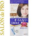 サロンドプロ 無香料ヘアカラー 早染めクリーム 白髪用 2-より明るいライトブラウン 40g+40g ( 医薬部外品 ダリア サロンドプロ )