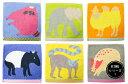 KODUE HIBINO KINGシリーズ 1 ミニタオル ハンカチ 綿100%デザイン:ひびのこづえ まとめ買いに最適!かわいい動物のハンカチ♪