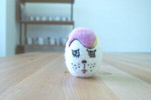 WOOLから生れた卵形のおもちゃketama/けたま(ミル)【いぬ・ねこのおもちゃ】
