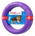 【犬用おもちゃ】PULLER(プラー)STANDARD(大)2個1組【大・中型犬用】【ボールロープフライングディスク】【解説DVD付】