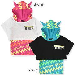 王冠 半袖 Tシャツ フード付タンクトップ 2点セット#BD DEEP★フード付トップス2点セット-フー...