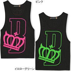 5/31 NEW★王冠 ノースリーブ ネオンカラー インナー#BD DEEP★ネオンロゴタンクトップ-ダンス ...