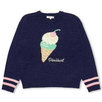 11/15NEWPINKHUNTアイスクリームニットトップス-キッズジュニアベビードールBABYDOLL-9822K_fw