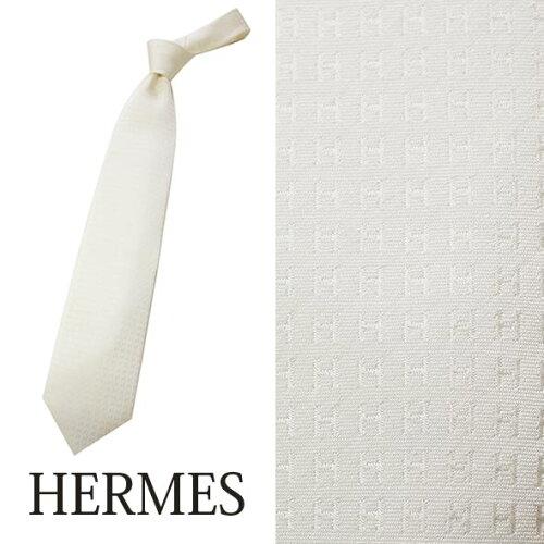 エルメス HERMES ネクタイ レギュラータイ 礼装用・フォーマル シルク HERMES-TIE-WH