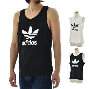 アディダス オリジナルス adidas originals タンクトップ メンズ ランニングシャツ ノースリーブ リラックスフィット ロゴ プリント スポーツ90年代 黒 白 ブラック ホワイト TREFOIL TANK DV1508 DV1509