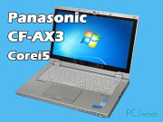 PanasonicLetsnoteCF-AX3EDCCS(Corei5/̵��LAN/B5��Х���)Windows7Pro�����ťΡ��ȥѥ������B���
