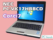 NECPC-VK17HBBCD(Corei7/̵��LAN/B5��Х���)Windows7Pro�����ťΡ��ȥѥ������B��󥯡�