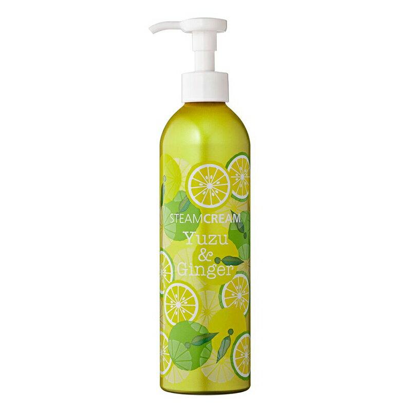 【大容量でお得!】スチームクリームボトルゆず&ジンジャー300g[日本製]「365日、あなたの顔もからだも髪まで保湿」チューブタイプハンドクリーム保湿クリームフェイスクリームスチームクリーム