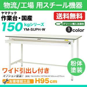 ワークテーブル(作業台)ワイド引出し付き:YM型150シリーズ