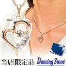 ダンシングストーンのK18ピンクゴールドコーティングネックレス