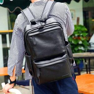 レザー リュック 大容量 黒リュック 人気 デイバッグ 鞄 おしゃれ 軽い PU革 バッグパック メンズ 通勤 通学 レディース ブラック 黒