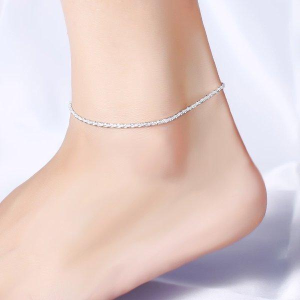 レディース アンクレット シルバー 925 アクセサリー シンプル 足首 かわいい おしゃれ 大人 可愛い 華奢