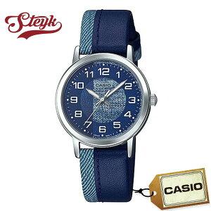 CASIO LTP-E159L-2B1 カシオ 腕時計 アナログ チープカシオ レディース ブルー デニム シルバー カジュアル