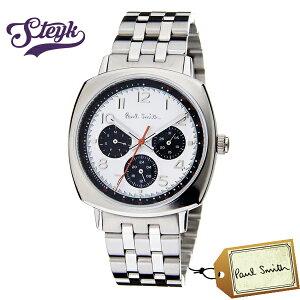 Paul Smith P10044 ポールスミス 腕時計 アナログ Atomic アトミック メンズ ホワイト シルバー カジュアル