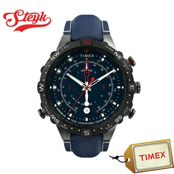 TIMEXTW2T76300タイメックス腕時計アナログアライドタイドテンプコンパスインテリジェントメンズネイビーブラックカジュア