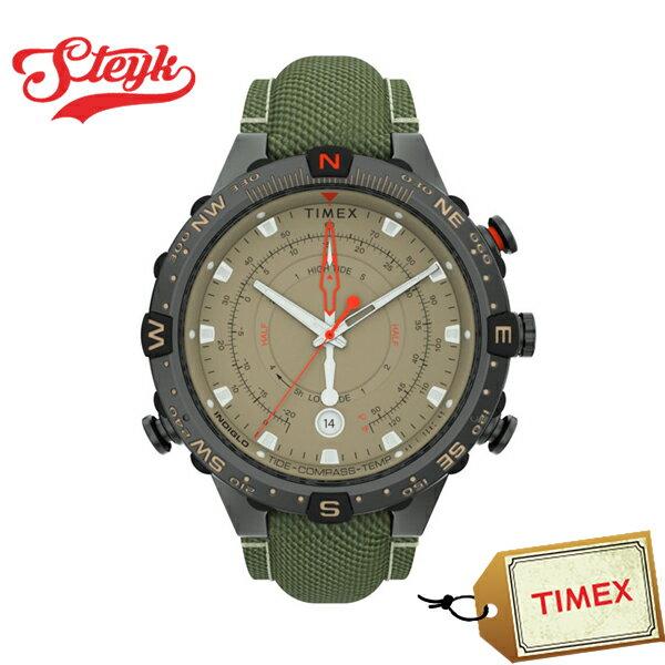 TIMEXTW2T76500タイメックス腕時計アナログアライドタイドテンプコンパスインテリジェントメンズブラウンカーキブラックカ