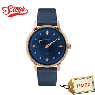 【店内ポイント最大49倍&クーポン配布中】TIMEX TW2T86100 タイメックス 腕時計 アナログ Automatic レディース ブルー ローズゴールド カジュアル