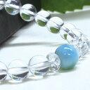 ラリマー 天然石 ブレスレット 水晶