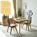 【送料無料】ダイニングテーブルセット 幅90 3点セット 木製 オーク...