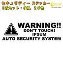 イプサム IPSUM セキュリティー ステッカー 3枚セット 全32色...