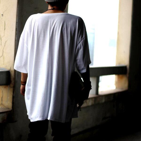 ビッグTシャツビックTシャツオーバーサイズロング丈Tシャツブラックホワイトグレーグリーンワインネイビー