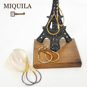 MIQUILA ミキーラジャパンデリカビーズ フープドロップピアス MQ434SFG-1632MIQUILA ミキーラジ...
