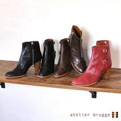 【30%OFF SALE/セール】 atelier brugge アトリエブルージュWモンクストラップショートブーツ S...