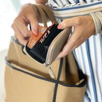 本革クレジットカードケースカード入れレディース大容量YKKファスナースキミング防止プレゼントギフトSTREAM