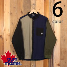ジムマスターgymmasterストレッチヘリンボーンシャツジャケットショールカラー丸首長袖G333628