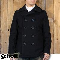 ショットSchott日本別注アメリカ製24ozスリムフィットピーコートPコート7118753US
