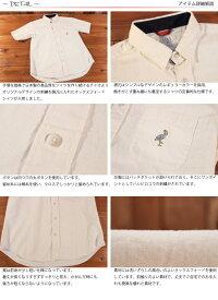 チャオciaoハシビロコウ刺繍半袖オックスフォードシャツ214-02