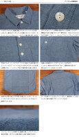 イタズラトカゲItazuraTokageダンガリーセミワイドカラープルオーバーシャツ半袖18-SS-023