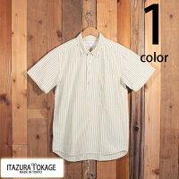 イタズラトカゲItazuraTokageオックスフォードキャンディストライププルオーバーボタンダウンシャツ半袖SM-PS12-05