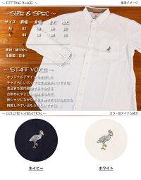 チャオciaoハシビロコウ刺繍長袖オックスフォードシャツ211-17