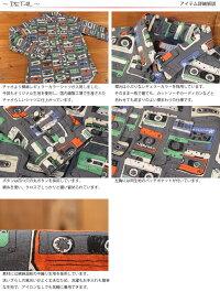 チャオciaoカセットテープ綿麻総柄長袖オックスフォードシャツ218-59