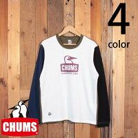 チャムスCHUMSブービーフェイスロゴ長袖TシャツCH01-1895