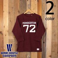 ウエアハウスWAREHOUSE七分袖フットボールTシャツ4063PEMBERTON