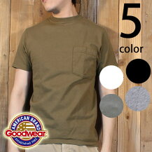 グッドウェアGoodwear日本正規品半袖クルーネックポケットTシャツ