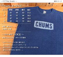 チャムスCHUMSロゴ半袖TシャツインディゴCH01-1337