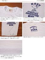 """バズリクソンズBuzzRickson'sxピーナッツPEANUTSスヌーピー半袖Tシャツ""""NAVYATHLETICS""""BR77845"""