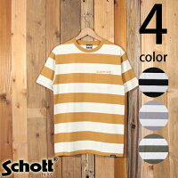 ショットSchott半袖ワイドボーダーポケットTシャツ31530133193067
