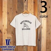 ウエアハウスWAREHOUSE半袖TシャツBULLDOGSフロッキープリント4601