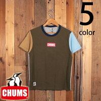 チャムスCHUMSミニボックスロゴ半袖TシャツCH01-1837