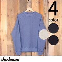 ジャックマンJackmanワッフルミッドネック長袖TシャツJM7653